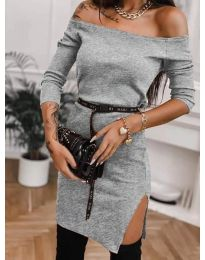 Šaty - kód 4720 - šedá