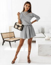Šaty - kód 1534 - šedá
