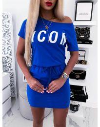 Šaty - kód 9905 - modrá