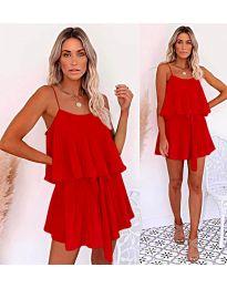 Volné šaty červené barvy - kód 721