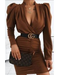 Šaty - kód 953 - hněda
