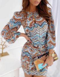 Šaty - kód 3453 - vícebarevné