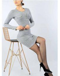 Šaty - kód 2064 - 2 - šedá