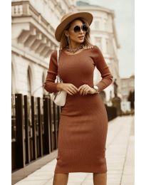 Šaty - kód 8485 - hněda