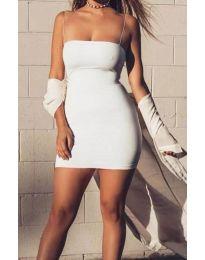 Šaty - kód 3687 - bíla