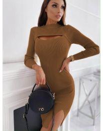 Šaty - kód 4528 - hněda