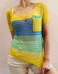Дамска тениска плетиво - код 7634 - 1