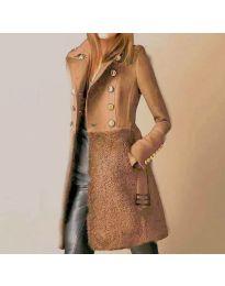 Kabát - kód 3100 - 1 - hněda
