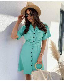 Šaty - kód 742 - tyrkysový