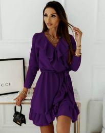 Šaty - kód 0578 - 3 - tmavě fialová