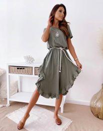 Šaty - kód 11893 - olivově zelená