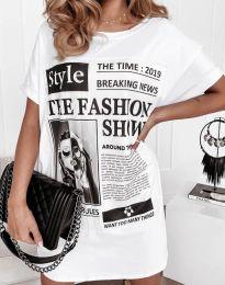 Šaty - kód 7775 - bíla