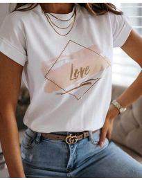 Tričko - kód Тениска - код 3710 - бял - bíla