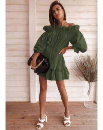 Šaty - kód 3386 - olivová  zelená