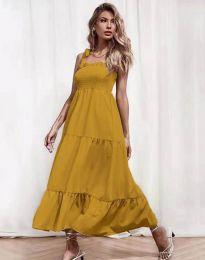Šaty - kód 1729 - hořčičná
