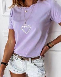 Tričko - kód 3701 - světle fialová