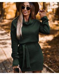 Šaty - kód 8400 - olivová  zelená