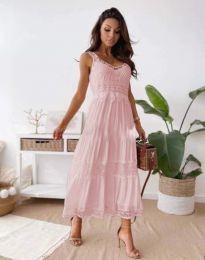 Šaty - kód 4672 - světle růžová