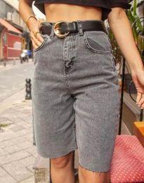 Krátké kalhoty - kód 2448 - 1 - šedá