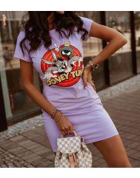 Šaty - kód 0303 - 2 - fialová