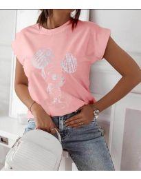 Tričko - kód 709 - 1 - růžova