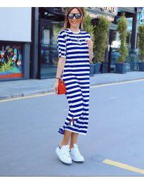 Šaty - kód 9910 - modrá