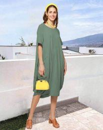 Šaty - kód 5554 - olivová  zelená