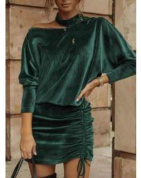 Šaty - kód 8987 - olivová  zelená