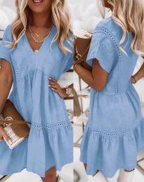 Šaty - kód 8978 - světle modrá