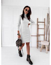 Šaty - kód 5696 - bílá