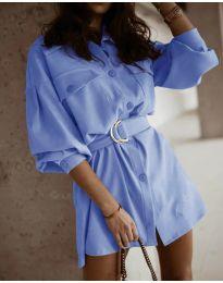 Šaty - kód 6461 světle modrá