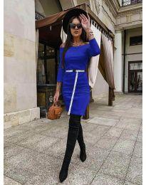 Šaty - kód 5190 - modrá