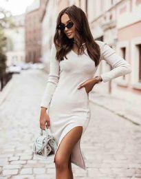 Šaty - kód 6593 - bíla