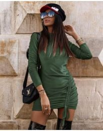 Šaty - kód 9545 - olivová  zelená