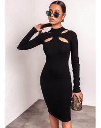 Šaty - kód 1625  - 3 - černá
