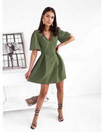 Šaty - kód 0807 olivově zelená