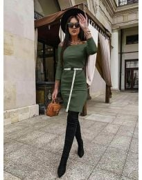 Šaty - kód 5190 - olivová  zelená
