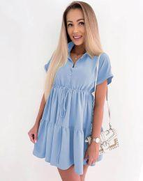 Šaty - kód 8889 - světle modrá