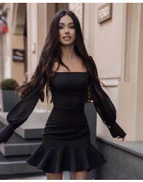 Šaty - kód 3605 - černá