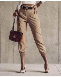 Kalhoty - kód 2490 - 4 - bežová