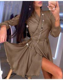 Šaty - kód 2428 - hněda
