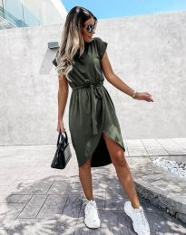 Šaty - kód 2074 - olivově zelená