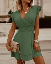 Šaty - kód 5654 - olivově zelená