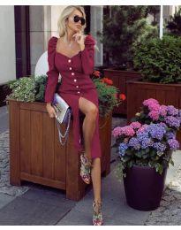 Šaty - kód 4418 - bordeaux