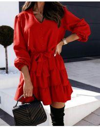 Šaty - kód 8272 - červená