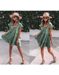 Šaty - kód 1155 - olivová  zelená