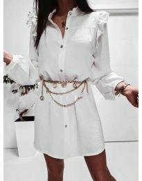 Šaty - kód 3433 - bílá