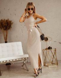 Šaty - kód 6166 - barva šampaňské