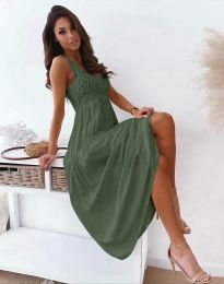 Šaty - kód 4807 - olivově zelená