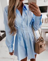 Šaty - kód 8141 - světle modrá